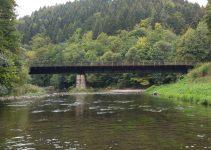 The Jizera river in Czech Republic