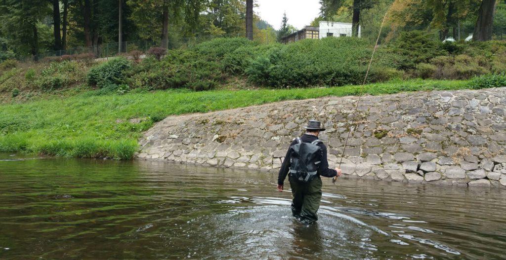 Fishing the Jizera river