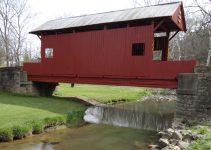covered bridge over mingo creek